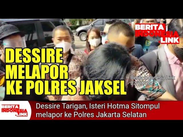 Akhirnya Dessire Tarigan melapor ke Polres Jakarta Selatan