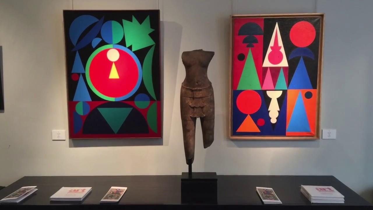 Exposition art abstrait geom trique galerie jean for Galerie art abstrait