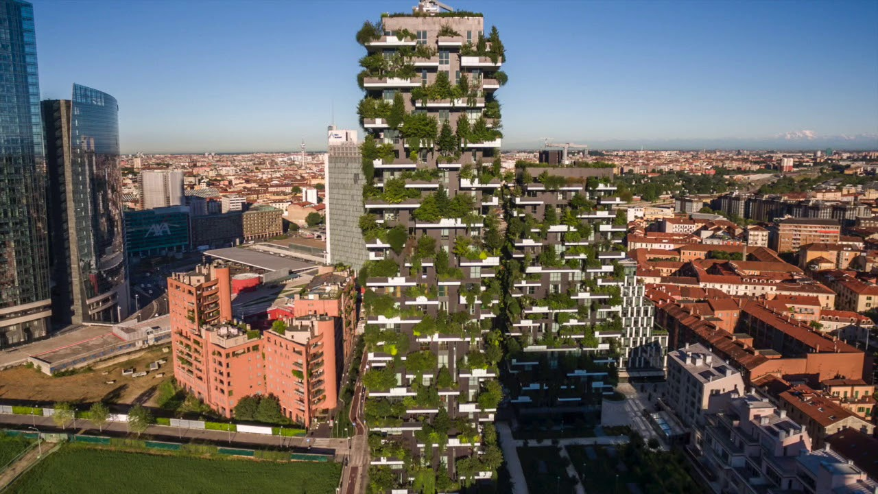 bosco verticale vertical forest milan project of the week 1 15 18 youtube. Black Bedroom Furniture Sets. Home Design Ideas
