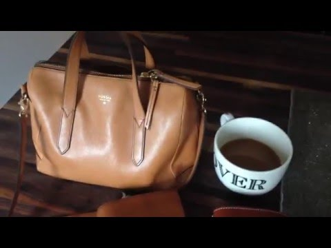 What's in my bag (Fossil Sydney Satchel)