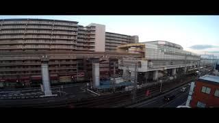 大阪モノレール蛍池駅の明け方
