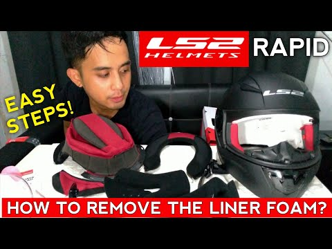 LS2 Rapid - How to remove liner foam ng helmet? Napakadali lang.