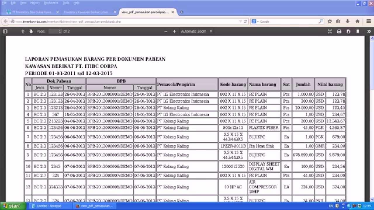gratis program aplikasi system it inventory bea cukai