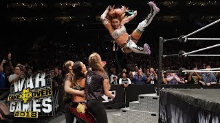 Sane takes out three Superstars with a jaw-dropping leap from the rope: NXT Takeover: WarGames II