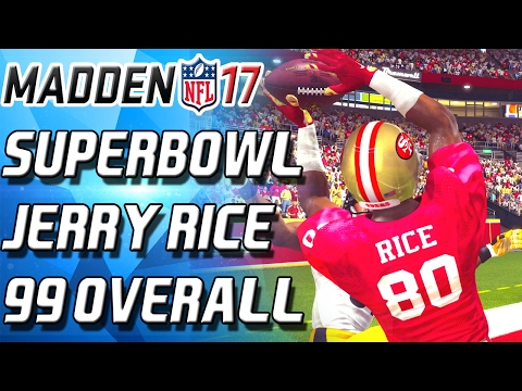 Madden 17 Ultimate Team - 99 OVERALL SUPERBOWL JERRY RICE! NO STICKUM NEEDED!