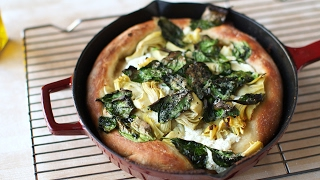 Artichoke & Spinach Skillet Pizza-Everyday Food with Sarah Carey