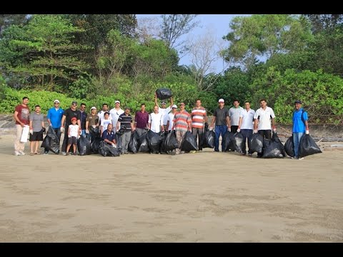 Earth Day Beach Cleaning 2015-Malayali Association Brunei