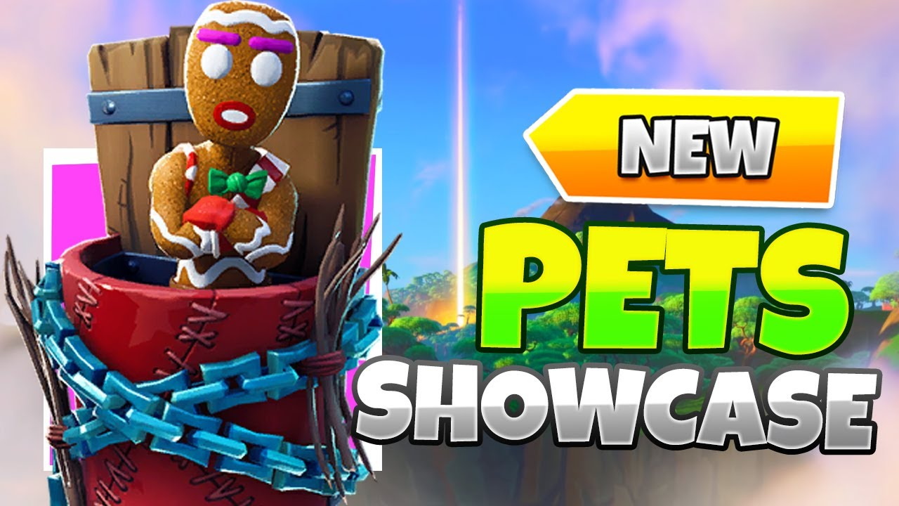 Fortnite: All Pets Petting Gameplay Showcase *In Game*: Merry Munchkin, Scales, Dodger, Camo, Bonesy
