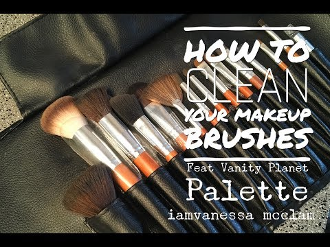 DIY: HOW TO CLEAN YOUR MAKEUP BRUSHES FEAT Vanity Planet Palette!!
