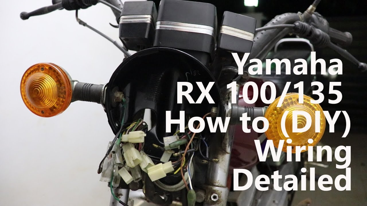 hight resolution of yamaha rx 100 135 wiring explained in details diy