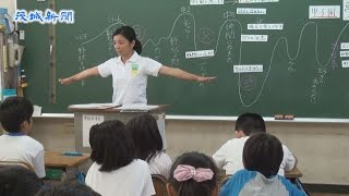 スポーツ選手らが「夢先生」として訪れる「スポーツ笑顔の教室」が9日...