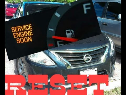 How To Reset Service Engine Soon Light On A 2017 Nissan Versa.