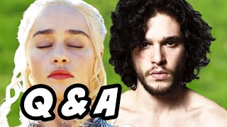 Game Of Thrones Season 6 Q&A - Jon Snow House Targaryen and Fire
