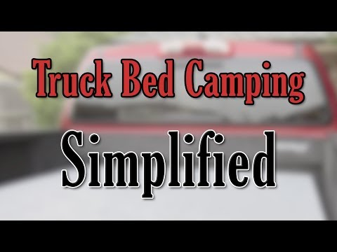 Truck Bed Camping Simplified: A Budget Camper Shell and Bed In the Back of a Pickup