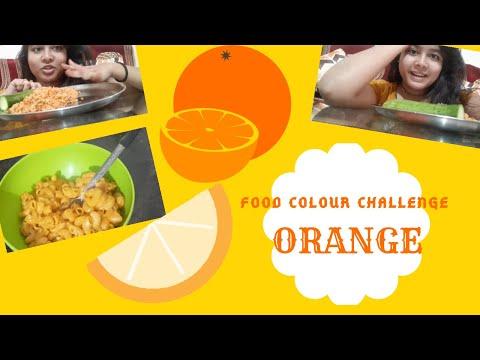 Food Challenge #Foodchallenge |#MondayMasala | #Colourfoodchallenge ||Orange Food