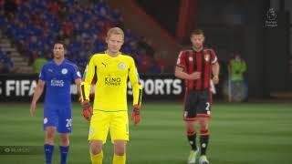 Premier League 2017/2018 AFC Bournemouth vs Leicester City