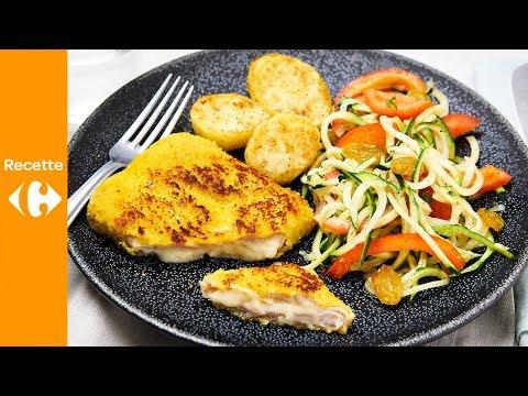 cordon-bleu,-pommes-de-terre-et-salade-de-tomates-courgettes