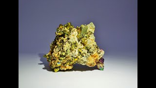 Iridescent Pyrite on Dolomite Mineral Specimens from Shangbao Mine, Hunan, China