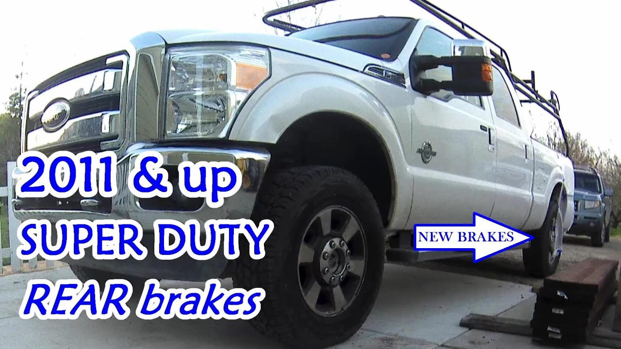 how to rear brake job easy step by step 2011 up super duty [ 1280 x 720 Pixel ]