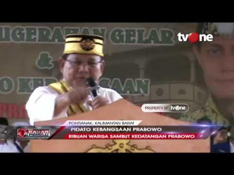 Pidato Kebangsaan Prabowo Di Pontianak, Kalimantan Barat