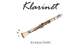 Hangszer ovi - Kis kacsa fürdik (klarinét) / Hungarian folk children song with animals