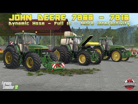 JOHN DEERE 7810  FULL IC E DYNAMIC HOSE EDIT AGRIGAMER15 | FARMING SIMULATOR 17