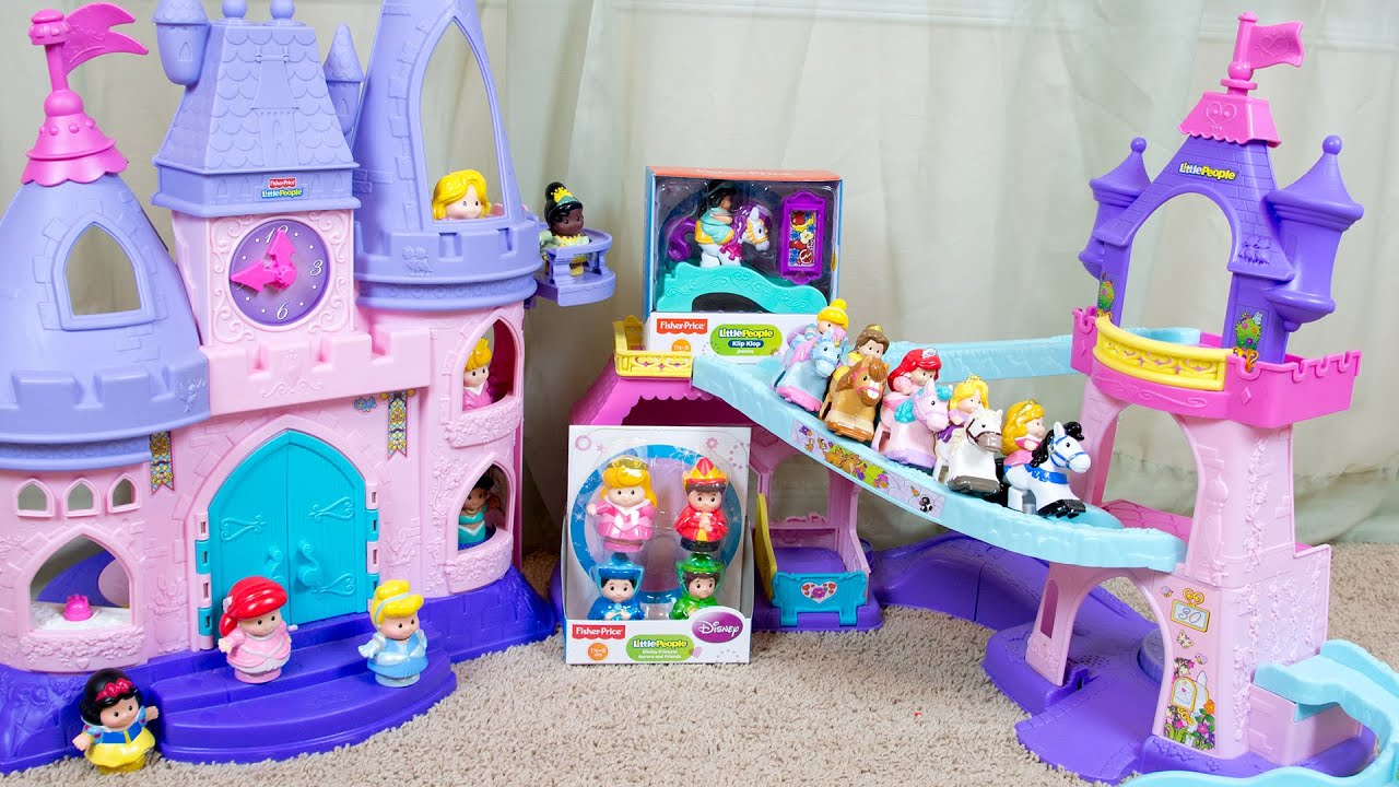 Fisher Price Little People Disney Princess Aurora and Friends Klip Klop Jasmine - YouTube