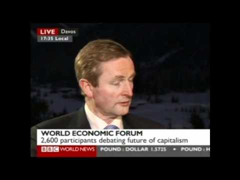 Taoiseach Enda Kenny Interviewed on the BBC from Davos