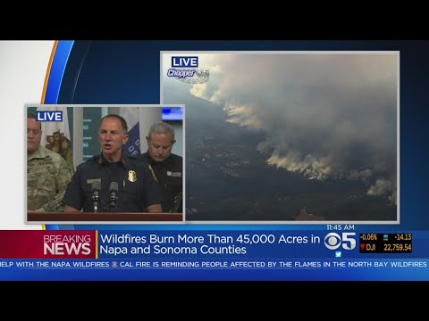 Cal OES, CalFire And CHP Officials Give Update On Napa And Sonoma County Wildfires