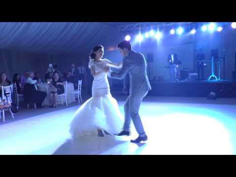 Bride and brother dance