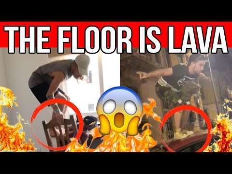 THE FLOOR IS LAVA COMPILATION 🔥 Matt & Bise