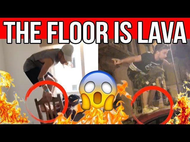 THE FLOOR IS LAVA COMPILATION 🔥 Matt & Bise