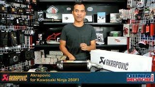 Knalpot Akrapovic untuk Kawasaki Ninja 250Fi di DuniaMotor.com