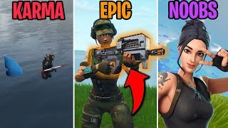 COMPACT SMG COMING TO FORTNITE! KARMA vs EPIC vs NOOBS! Fortnite Battle Royale Funny Moments