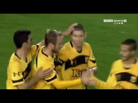 Aris - Kerkyra 2-0 (Cesarek & Portilla Goals)