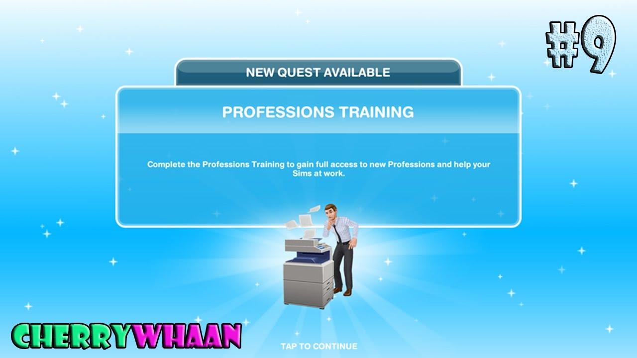 Download The Sims FreePlay #9 สถานีตำรวจ เควส Professions Training (CHERRYWHAAN)