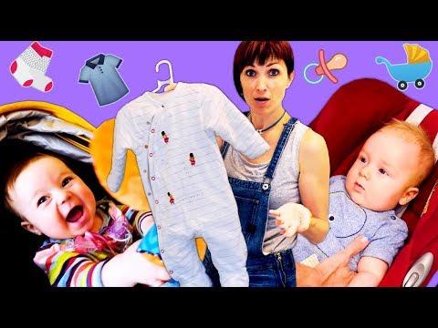Одежда для новорожденных - Вещи Карла - Влог мамы Маши Капуки