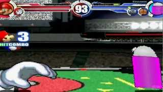 Super Mario 64 & Master Hand vs Eraser, Card Box, Dialog MUGEN Battle!!!