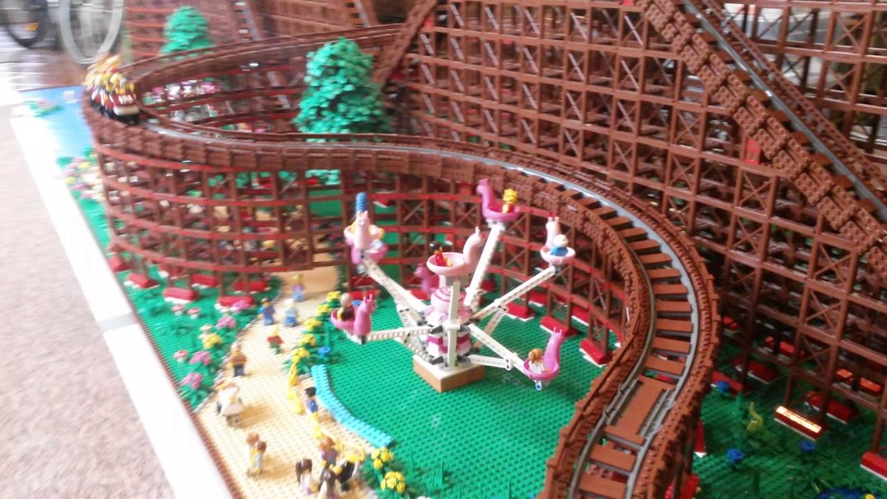 LEGO Wooden Roller Coaster pt2 - YouTube