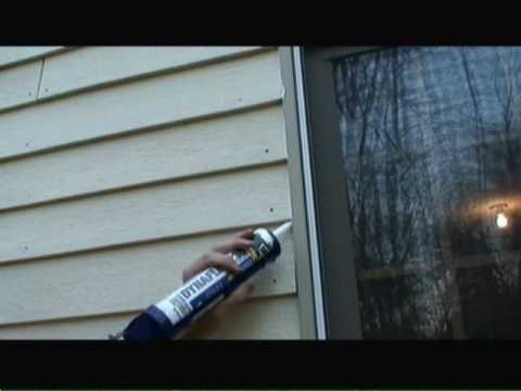 How To Window Seal Using Window Caulk Video Youtube