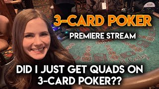 AWESOME WINNING SESSION ON 3 CARD POKER!! BETTING UP TO $155/HAND!!
