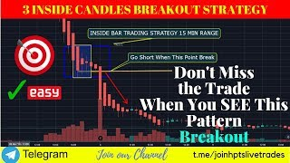 3 Insider Candles Breakout Trading Strategy : Price Action Candlestick Breakout Pattern