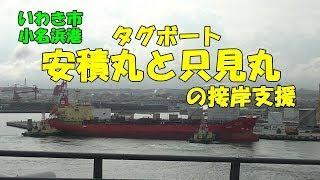 いわき市小名浜港 タグボート安積丸と只見丸の接岸支援