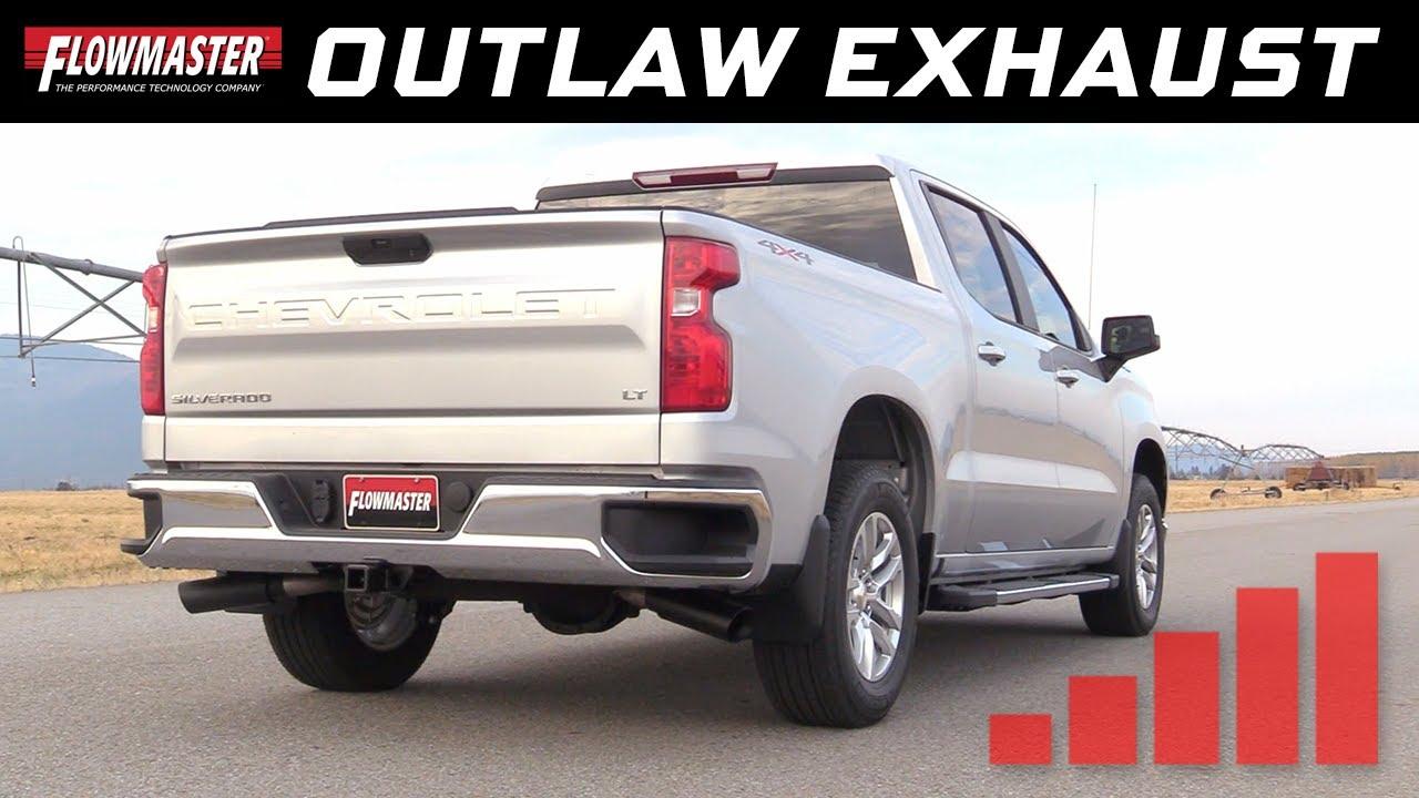 2019 20 gm silverado sierra 1500 5 3l outlaw cat back exhaust 817854