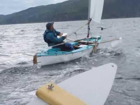 A Sailing Canoe Fast Reaching