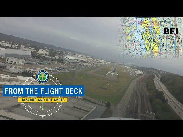 From The Flight Deck - Boeing Field, King County, Seattle, WA (BFI)