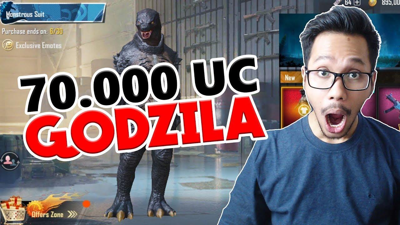 70000 Ribu Uc Godzila Monstrous Suit Pubg Mobile Indonesia Youtube