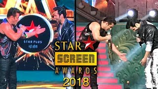 Salman Khan And Varun Dhawan Performance At Star Screen Awards 2018