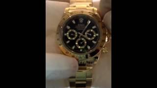 Часы Rolex daytona automatic black with gold от интернет-магазина  www.oncover.net.ua(Интернет-магазин http://www.oncover.net.ua/ по продаже наручные, кварцевые, механические, спортивные часы, как и женски..., 2014-02-25T20:13:35.000Z)