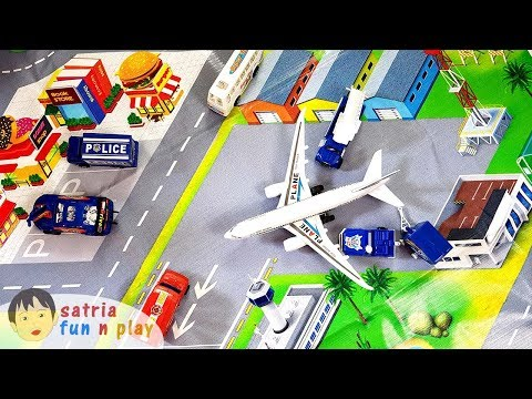 Bandara Pesawat Terbang Mainan Diorama Satria Fun n Play